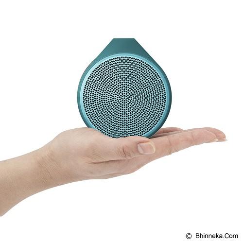 LOGITECH Mobile Wireless Speaker X100 [984-000376] - Cyan/Green Grill - Speaker Bluetooth & Wireless